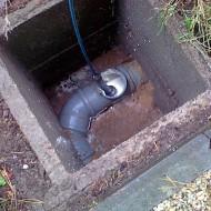 Foto z čištění kanalizace